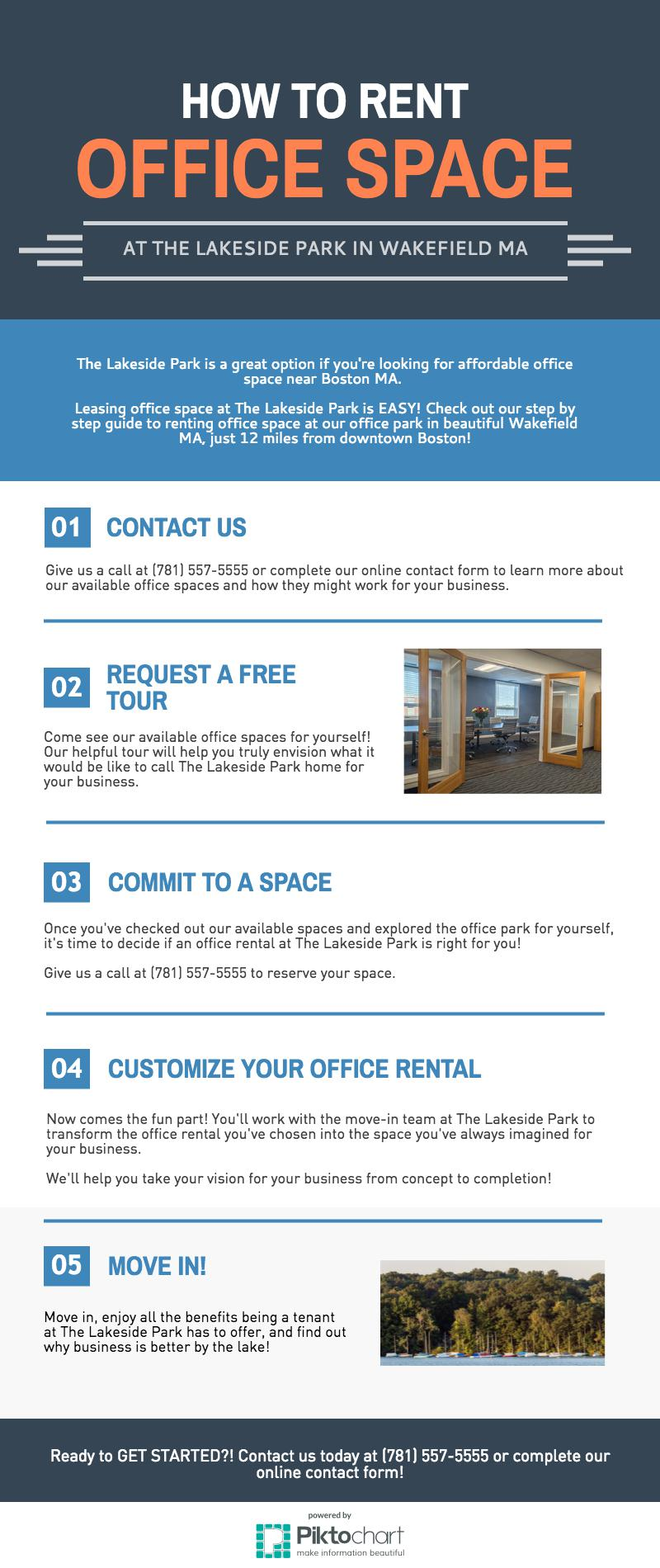 Guide to Renting Office Space Near Boston at The Lakeside Park in Wakefield MA